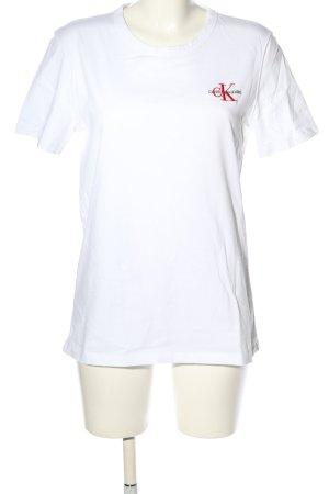 Calvin Klein Shirt met print wit gedrukte letters casual uitstraling