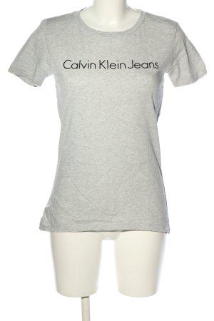 Calvin Klein Shirt met print lichtgrijs-zwart gedrukte letters