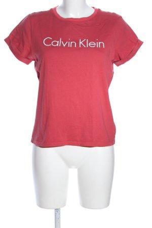 Calvin Klein Shirt met print rood gedrukte letters casual uitstraling