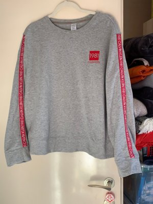 Calvin Klein Oversized Sweater silver-colored