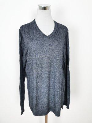 Calvin Klein Jersey de punto grueso azul-azul oscuro