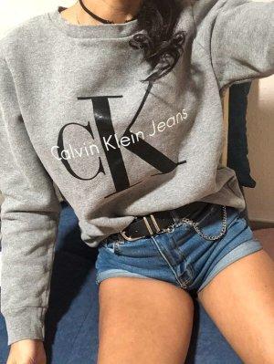 Calvin Klein Jeans Oversized trui grijs