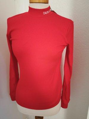 Calvin Klein Jeans Top à manches longues rouge