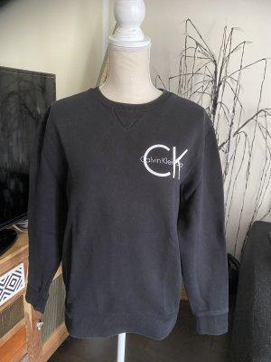 Calvin Klein Sweter z okrągłym dekoltem czarny-biały
