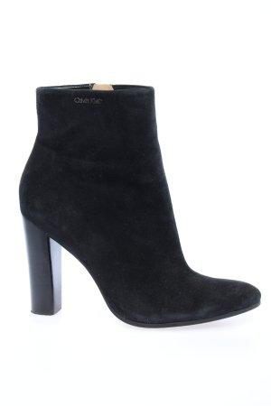 Calvin Klein Reißverschluss-Stiefeletten schwarz Casual-Look