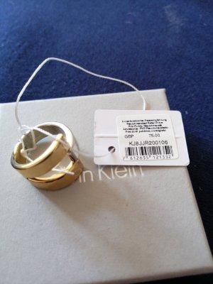 Calvin Klein Zdobiony pierścionek srebrny-złoto