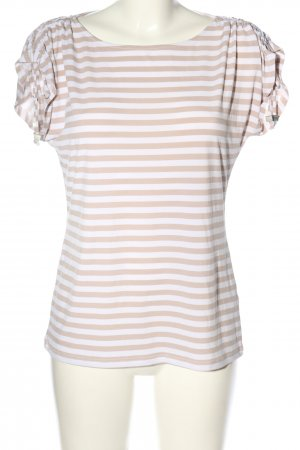 Calvin Klein T-shirt rayé crème-blanc motif rayé style décontracté