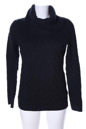 Calvin Klein Rollkragenpullover schwarz grafisches Muster Casual-Look