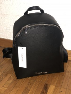 Calvin Klein Laptop Backpack black-silver-colored