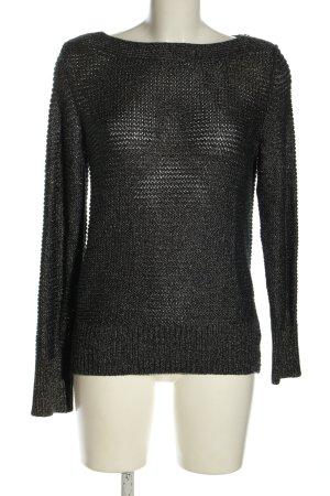 Calvin Klein Rundhalspullover schwarz Webmuster Casual-Look