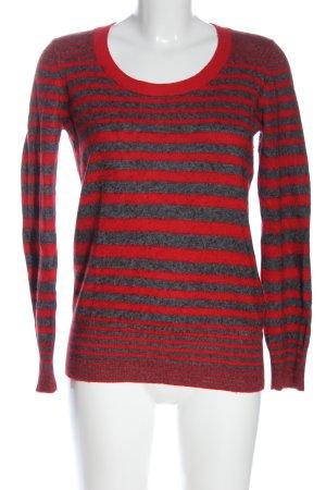 Calvin Klein Rundhalspullover rot-blau meliert Casual-Look