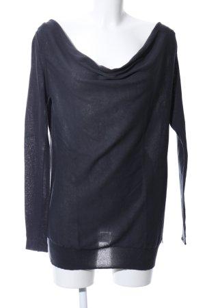 Calvin Klein Rundhalspullover schwarz Casual-Look