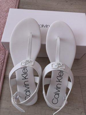Calvin Klein Sandalo toe-post bianco