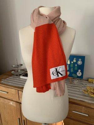 Calvin Klein Gebreide sjaal rosé-lichtrood