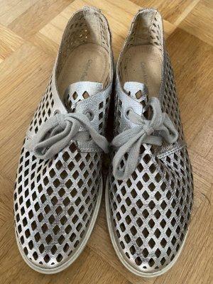 Calvin Klein Lace Shoes silver-colored