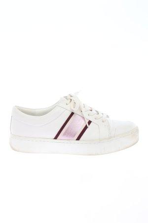 Calvin Klein Sneakers met veters wit-roze gedrukte letters casual uitstraling