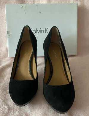 Calvin Klein Cap Toes black leather