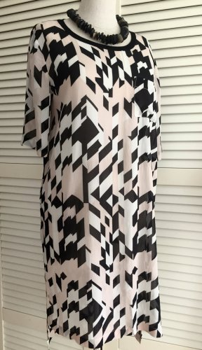 CALVIN KLEIN Seidenkleid Sommerkleid Tunika Kleid Seide S elastisch Halbarm