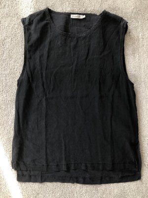 Calvin Klein Jeans Silk Top black silk