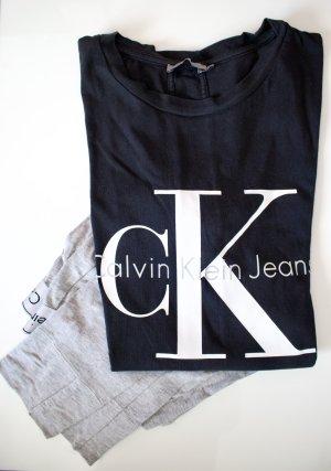 Calvin Klein Basic topje zwart-lichtgrijs