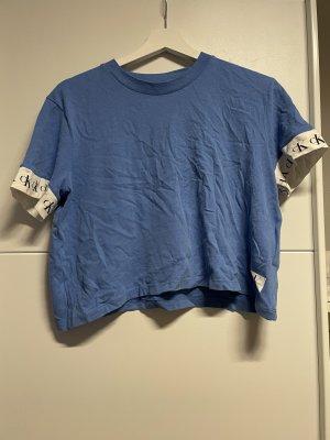 Calvin Klein Jeans Camicia cropped azzurro
