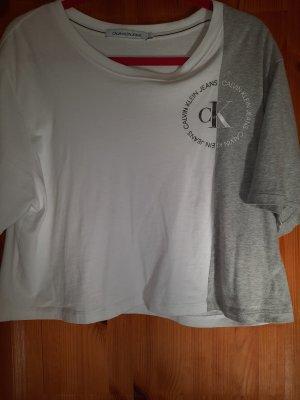 calvin klein shirt weiß/silber
