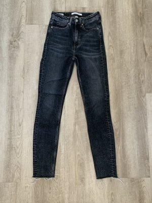 Calvin Klein, Skinny Jeans, grau-schwarz