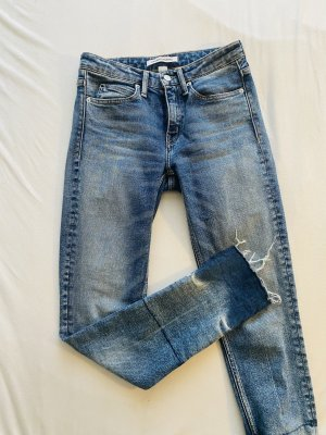 Calvin Klein Skinny jeans leigrijs