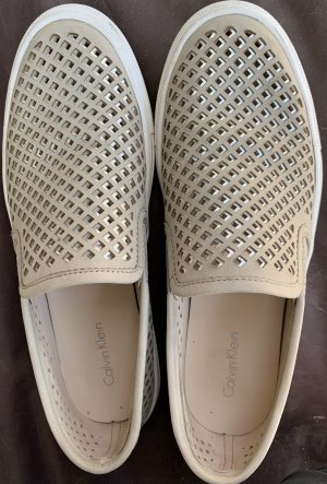 Calvin Klein Mocassino beige chiaro-bianco