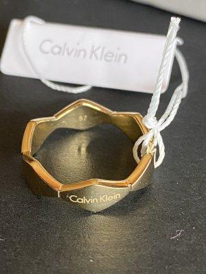 Calvin Klein Anillo de oro color oro