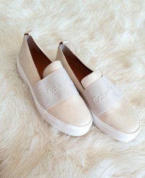 Calvin Klein Sneaker alta bianco-beige chiaro