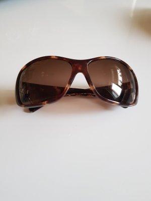 Calvin Klein Oval Sunglasses brown