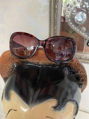 Calvin Klein Lunettes de soleil rondes noir-brun