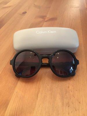 Calvin Klein Okrągłe okulary przeciwsłoneczne czarny-srebrny