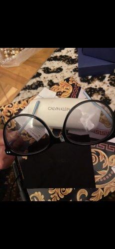 Calvin Klein Owalne okulary przeciwsłoneczne biały-chabrowy