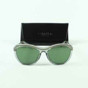 Calvin Klein Oval Sunglasses lime-green-white mixture fibre