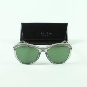 Calvin Klein Occhiale da sole ovale verde chiaro-bianco Tessuto misto