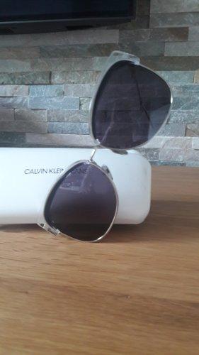 Calvin Klein Occhiale da sole spigoloso nero-bronzo