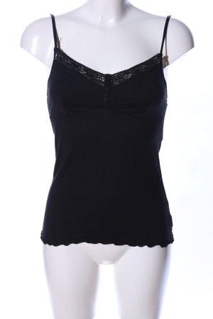 Calvin Klein Spaghettibandtopje zwart zakelijke stijl