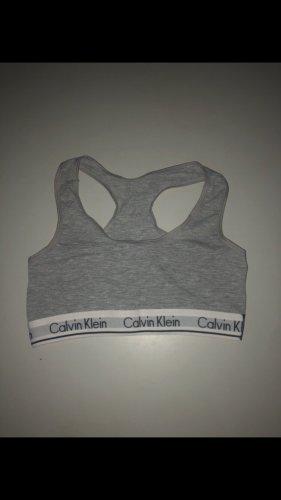 Calvin Klein Top deportivo sin mangas gris
