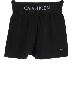 Calvin Klein Sportshorts schwarz-weiß Motivdruck Casual-Look