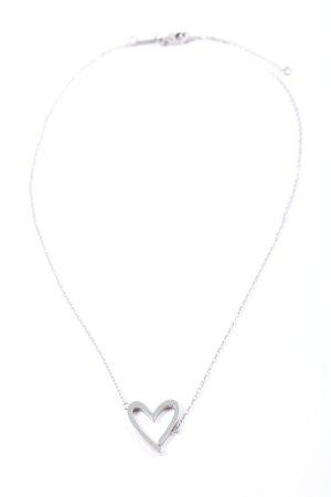 Calvin Klein Cadena de cuentas color plata look casual