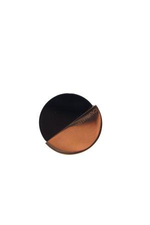 Calvin Klein Statementring goldfarben-schwarz Elegant