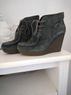 Calvin Klein Botas de cuña gris oscuro