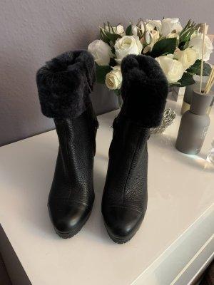 Calvin Klein Stivaletto spuntato nero-argento Pelle
