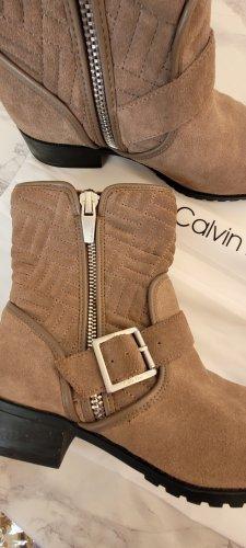 Calvin Klein Cothurne marron clair cuir