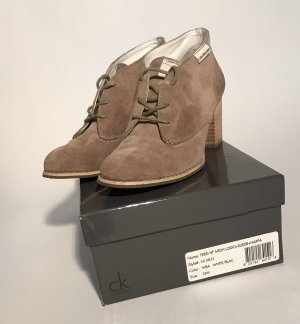 Calvin Klein Jeans Lace-up Booties beige