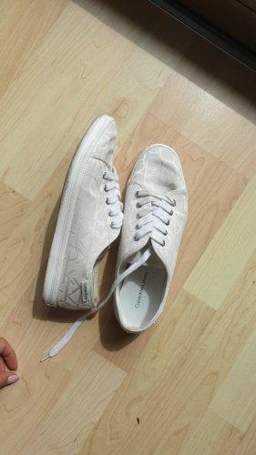 Calvin Klein Lace-Up Sneaker white-natural white
