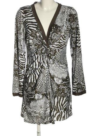 Calvin Klein Strandkleid braun-weiß abstraktes Muster Casual-Look