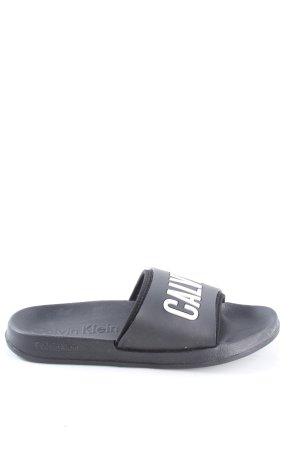 Calvin Klein Strandsandalen zwart-wit casual uitstraling